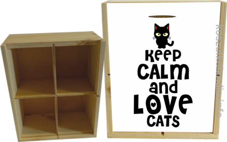 Keep Calm and Love Cats Black Filo - Skrzynka ozdobna