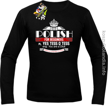 Polish for begginers Yes Tess Q Tess - Longsleeve męski