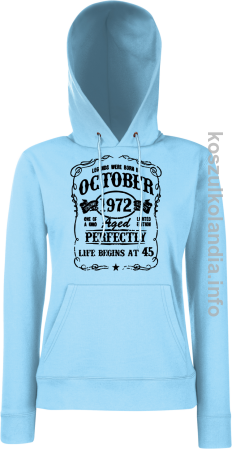 Legends were born in October Aged Perfectly- Bluza damska z kapturem