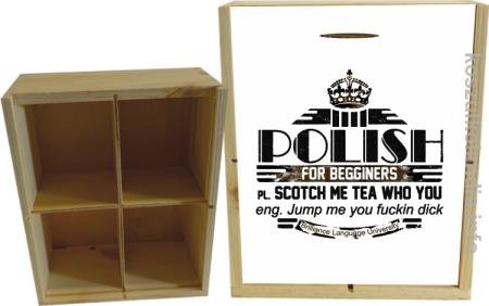 POLISH for begginers Scotch me tea who you - Skrzyneczka ozdobna
