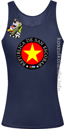 San Escobar Yellow Star Around - Top damski
