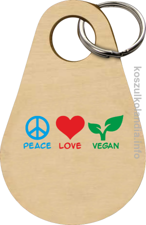 Peace Love Vegan - Breloczek