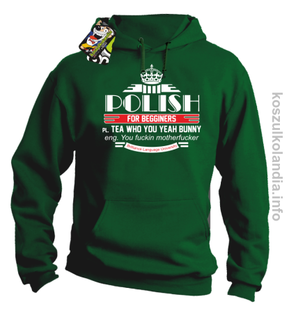 Polish for begginers Teas Who You Yeah Bunny - Bluza męska z kapturem