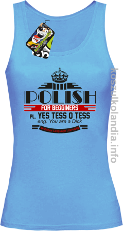 Polish for begginers Yes Tess Q Tess - Top damski