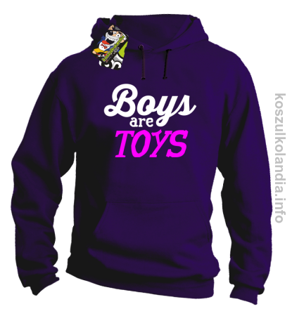 Boys are Toys - Bluza męska z kapturem