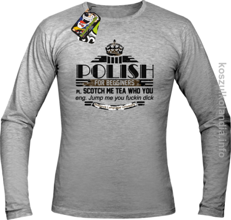 POLISH for begginers Scotch me tea who you - Longsleeve męski