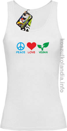 Peace Love Vegan - Top damski